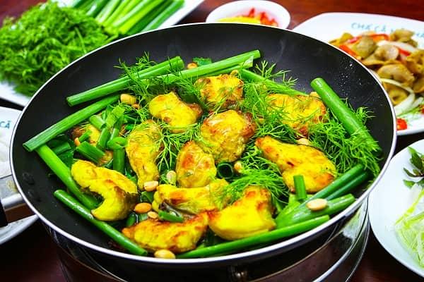 Tất cả các món ăn đều được chế biến từ cá lăng Sông Đà