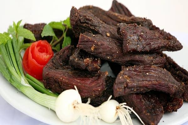 Thịt trâu khô của Điện Biên