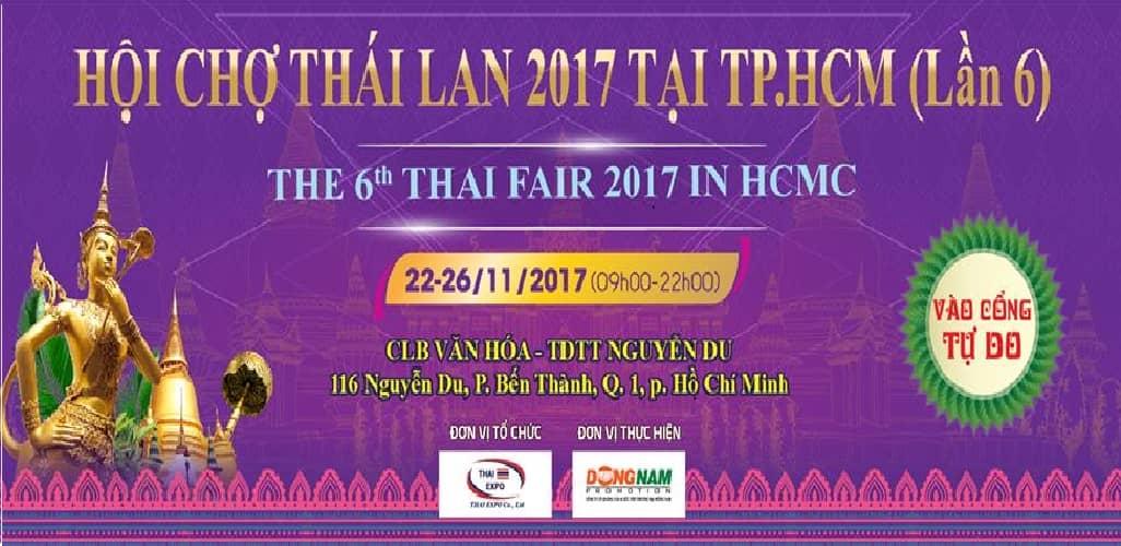 Hội chợ Thái Lan 2017 làn 6 tại TP.HCM