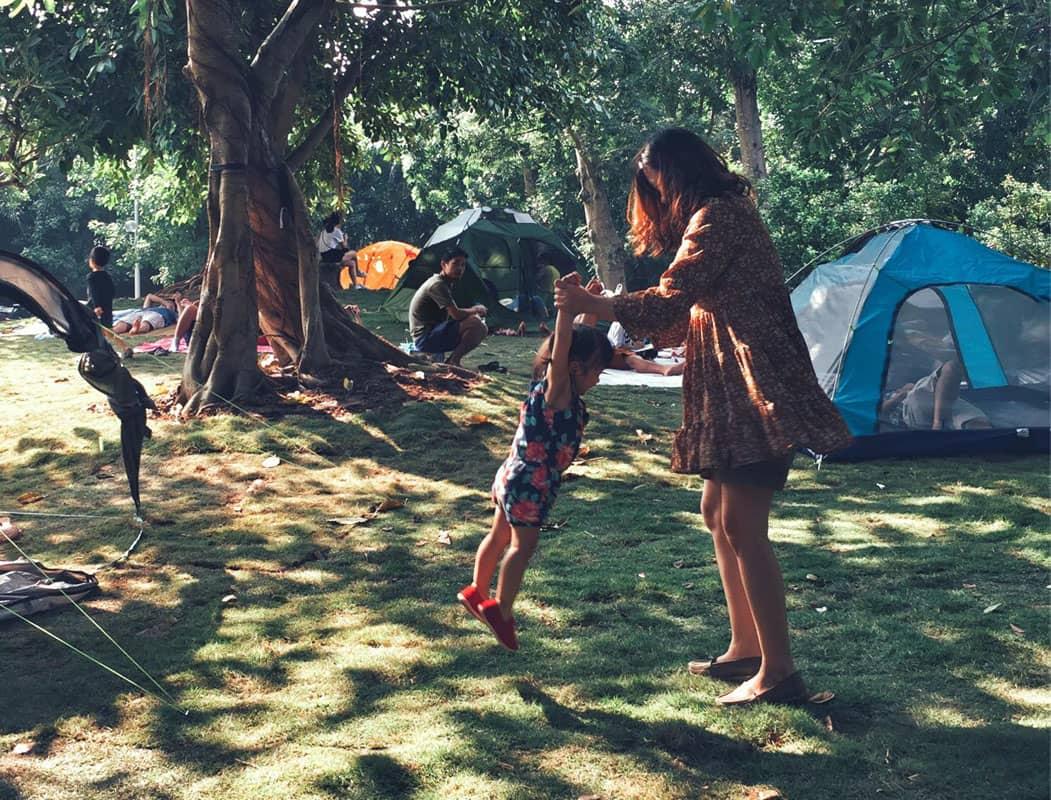 Cắm trại là hoạt động không thể thiếu khi dã ngoại tại EcoPark