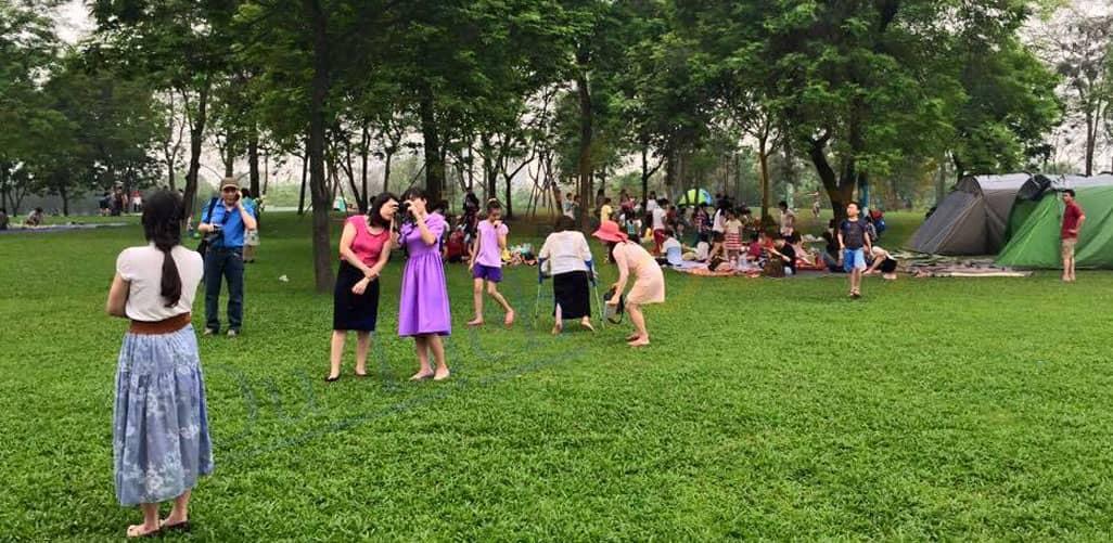 Các hoạt động dã ngoại cho cả gia đình tại công viên Yên Sở - Hà Nội