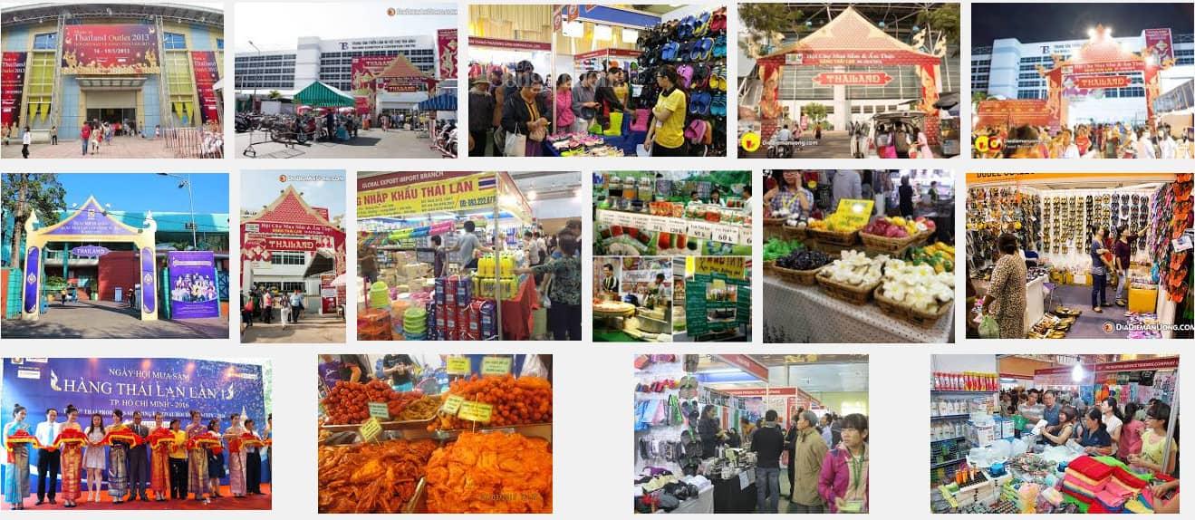 Hội chợ Thái Lan hằng năm thu hút đông đảo người dân tham quan và mua sắm