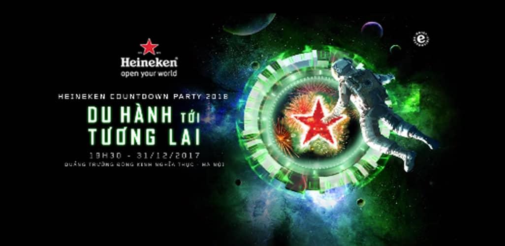 Heineken Countdown Party 2018 tại Hà Nội