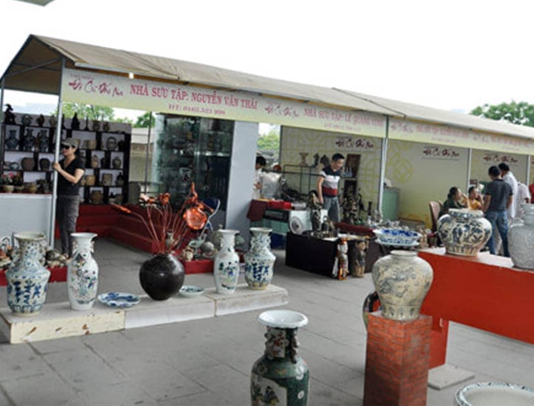 Chợ đồ cổ tại Bảo tàng Hà Nội
