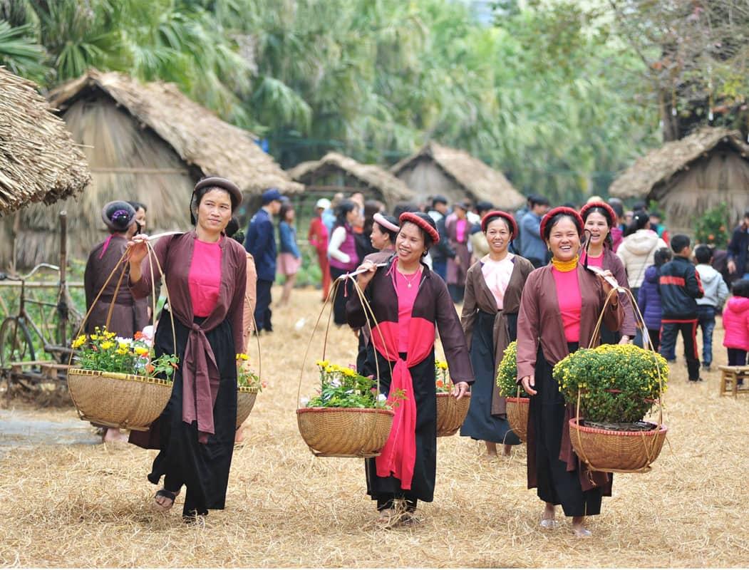 Chợ hoa xuân Hà Nội tại EcoPark