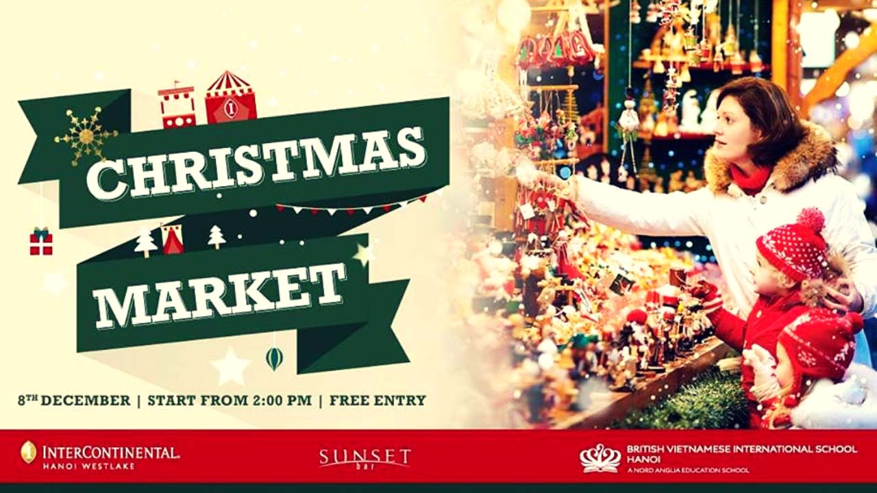 Đi đến hội chợ Giáng sinh tại khách sạn InterContinental Hà Nội Westlake