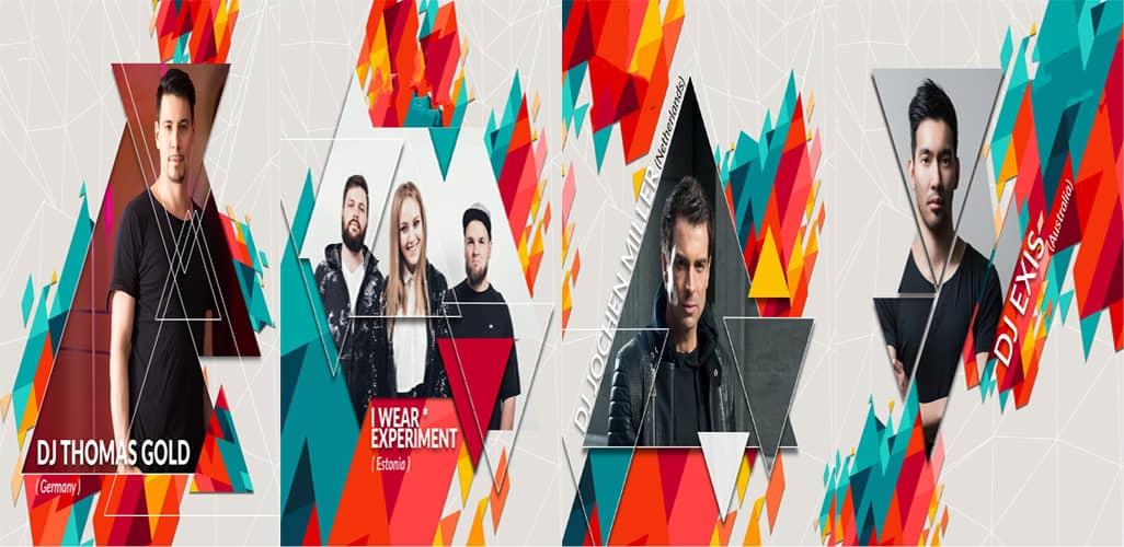 Các nghệ sĩ DJ sẽ có màn trình diễn sôi động tại đêm The Arena First Chirstmas