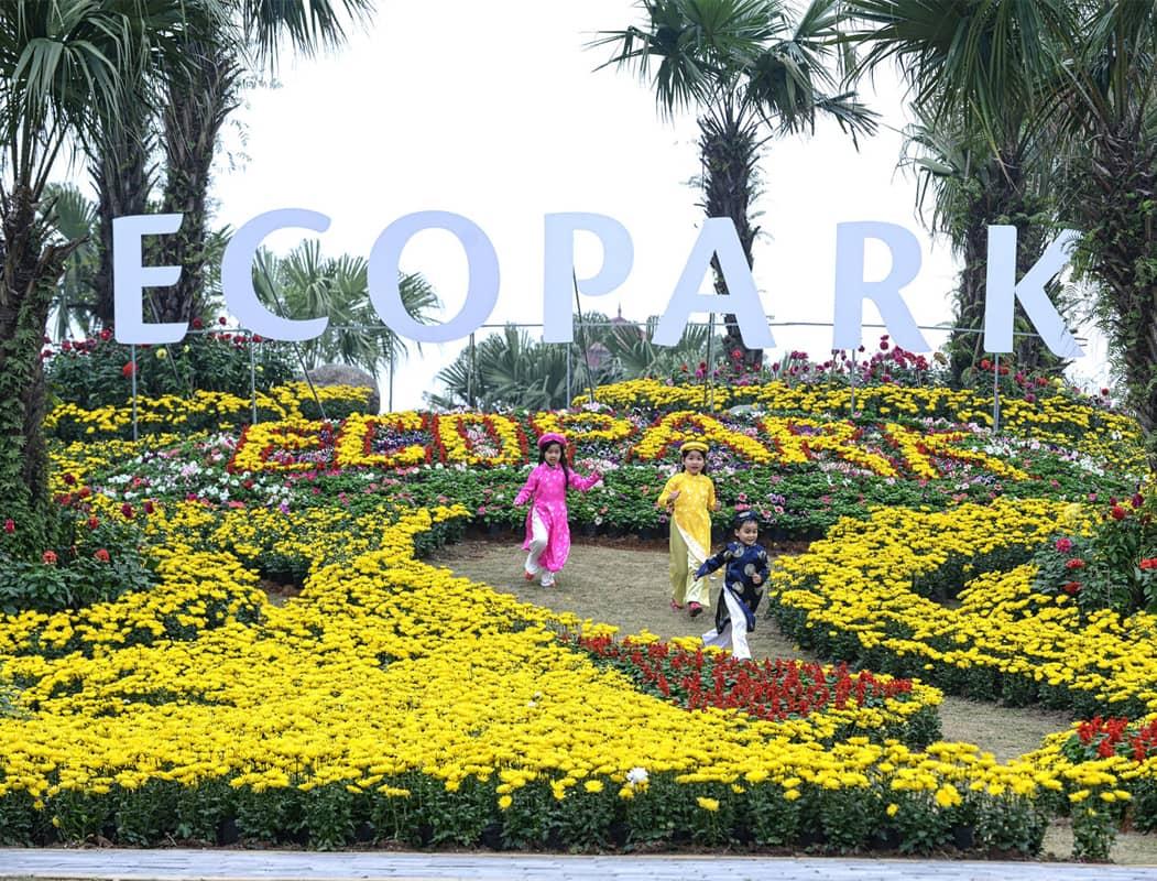 Eco Park - một trong các điểm chợ hoa Tết Hà Nội