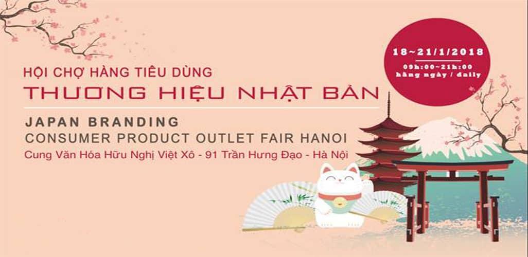 Hội chợ hàng tiêu dùng thương hiệu Nhật Bản 2018 tại Hà Nội