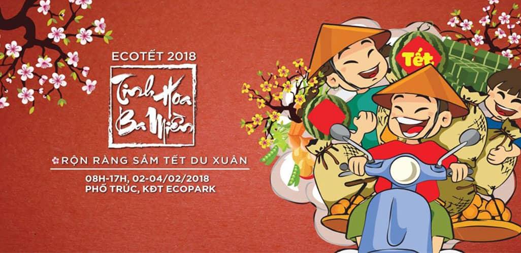 Hội chợ Tét Ecopark 2018
