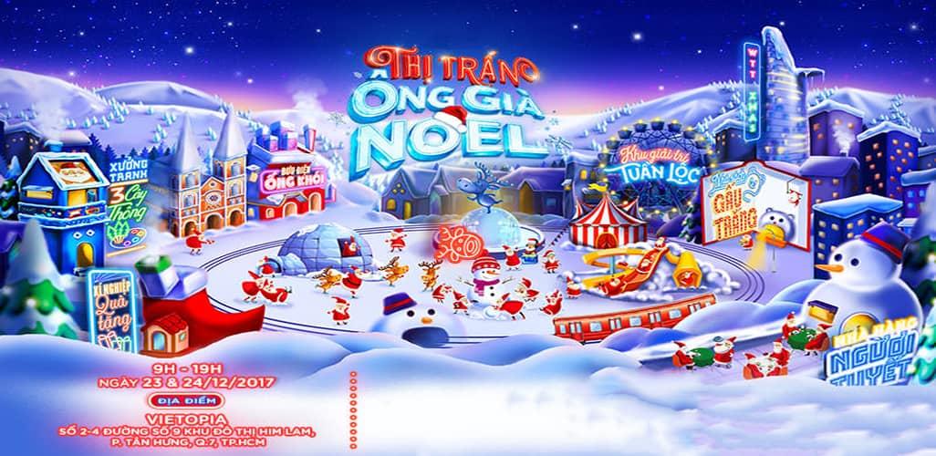 Thị trấn ông già Noel tại khu vui chơi Vietopia
