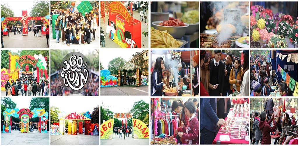 Hội chợ luôn là địa điểm hấp dẫn với các bạn sinh viên vào dịp Tết đến Xuân về