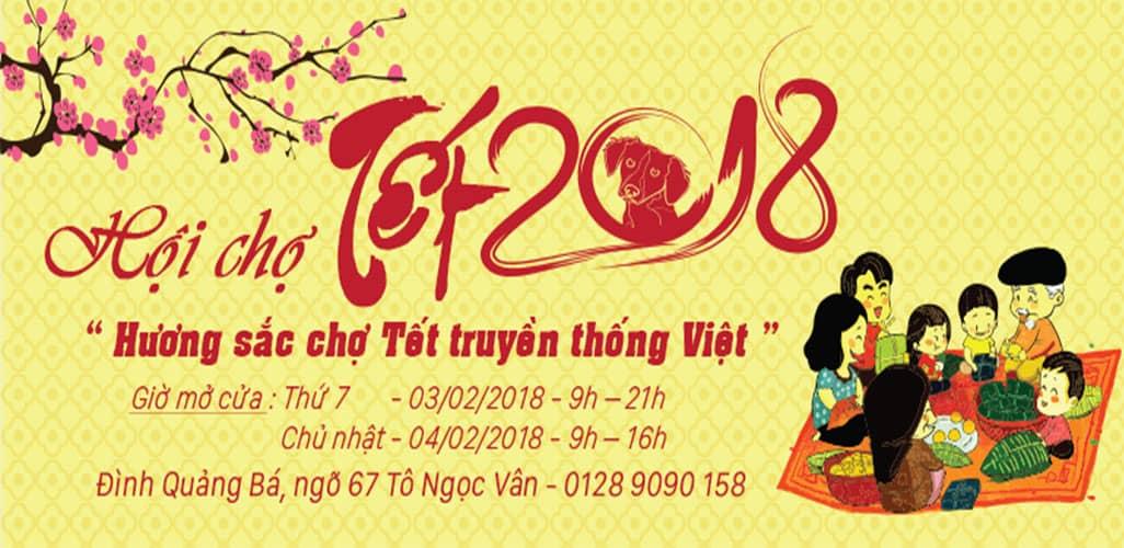 Hội chợ Tết 2018 tại đình Quảng Bá