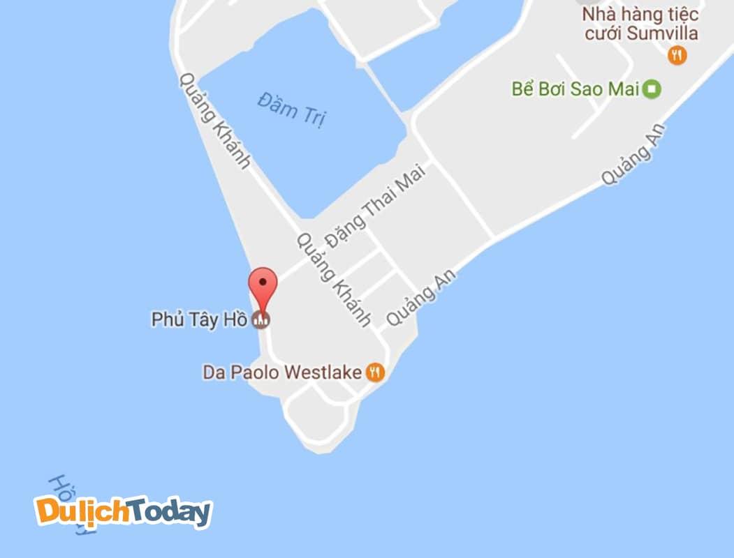 Địa chỉ Phủ Tây Hồ Hà Nội