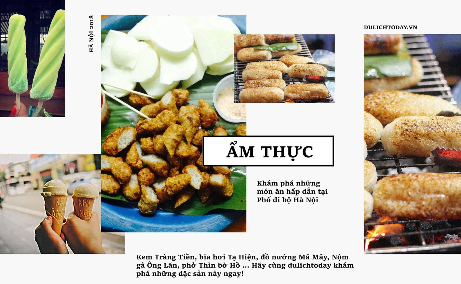 Khám phá ẩm thực phố đi bộ Hà Nội