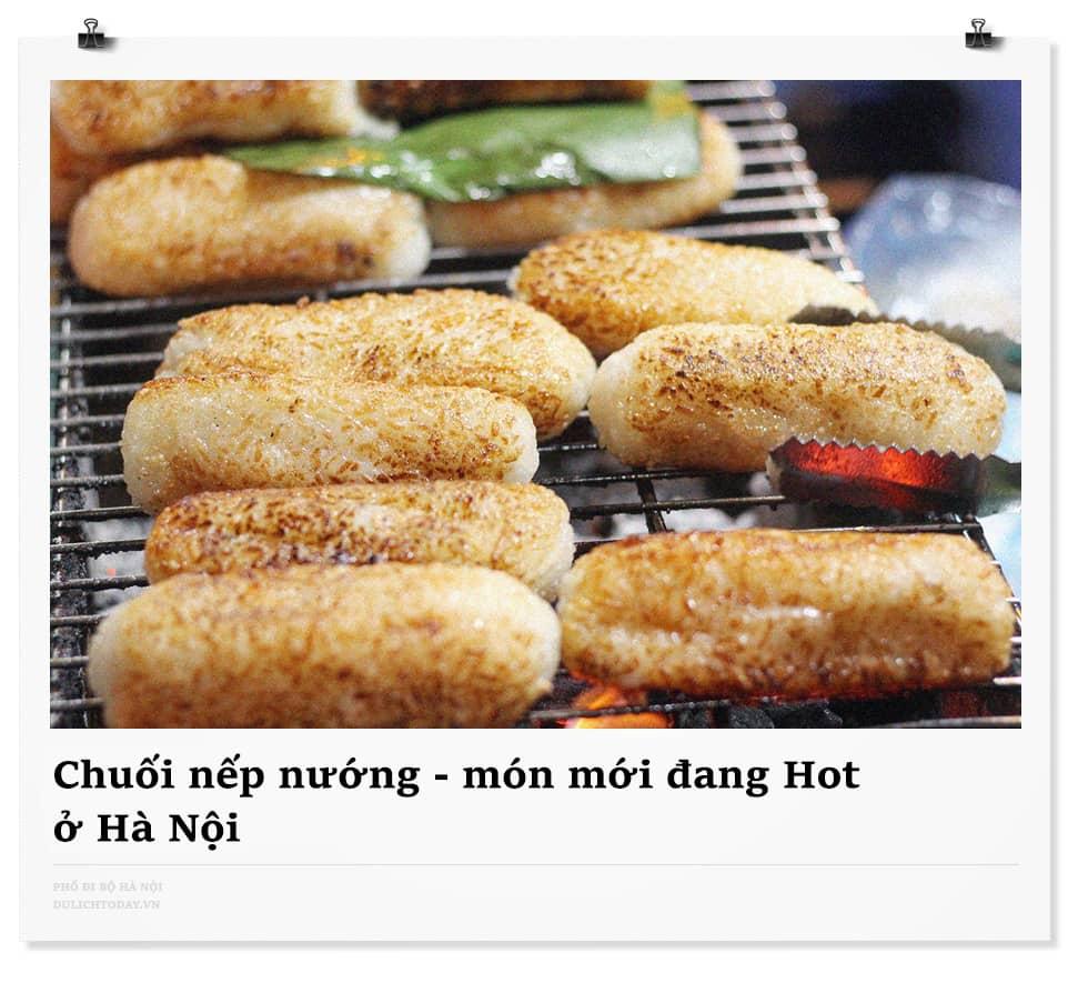 Chuối nếp nướng Hà Nội