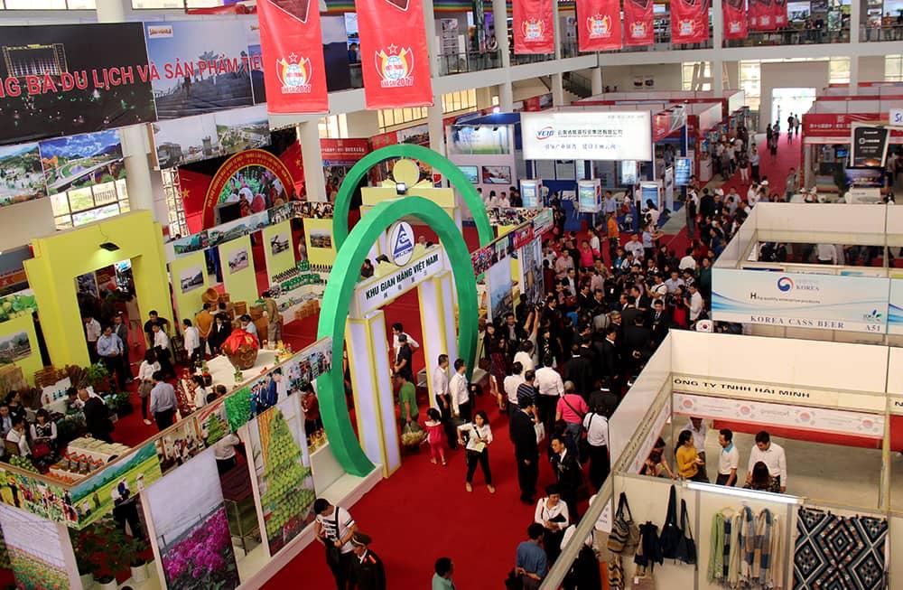 Thu hút được sự quan tâm của người dân đến với hội chợ thương mại quốc tế qua những năm trước đó