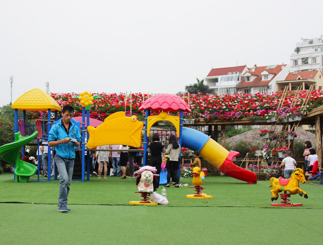 Sân chơi cho trẻ nhỏ, địa điểm tổ chức sinh nhật lý tưởng