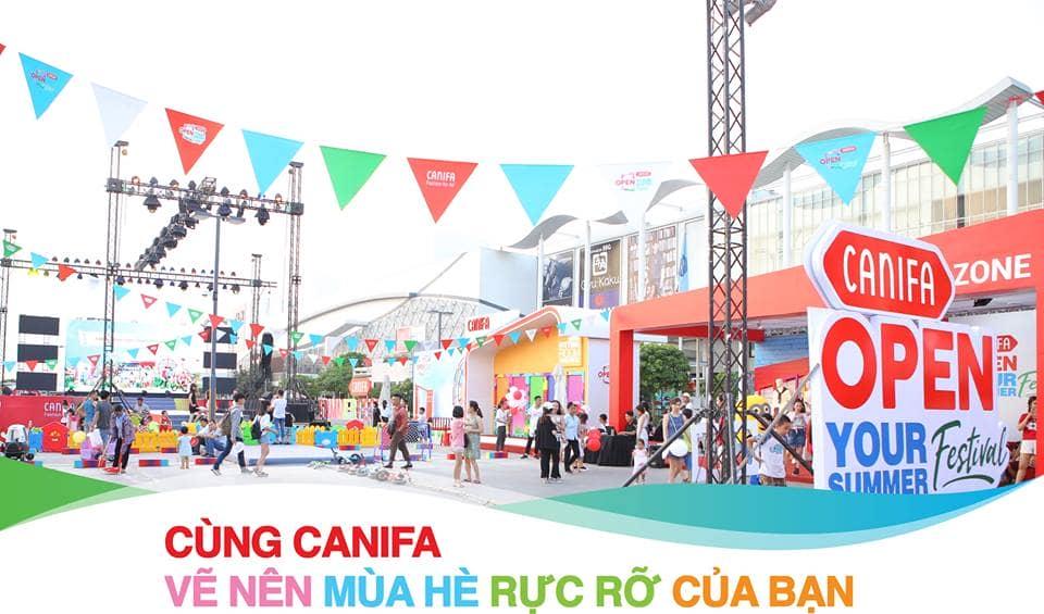 Không gian Lễ hội thời trang Canifa trước đó tại Hà Nội