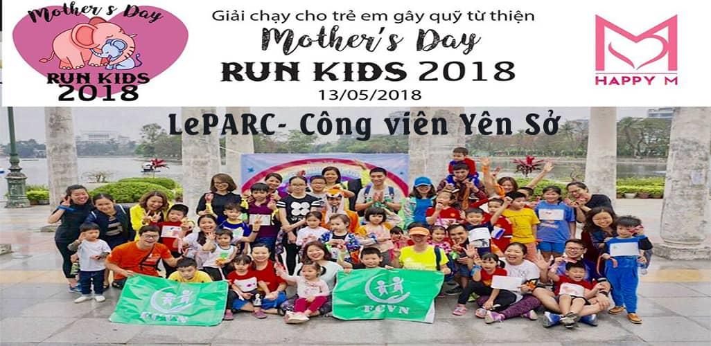 """Cuộc thi chạy bộ """"Mother Day Run Kids"""""""