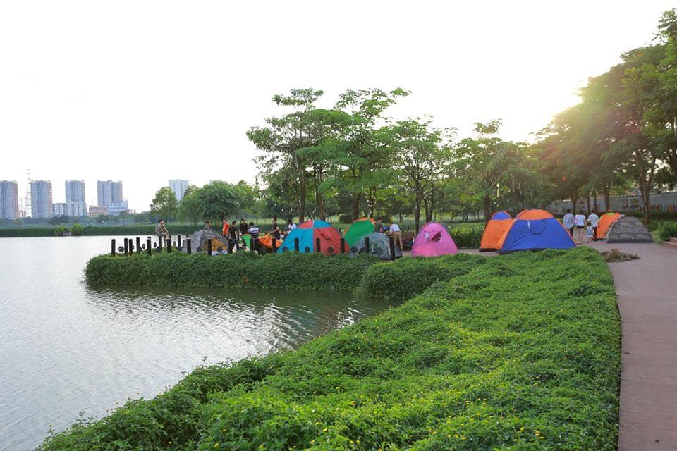 Thỏa thích cắm trại giữa không gian xanh mát