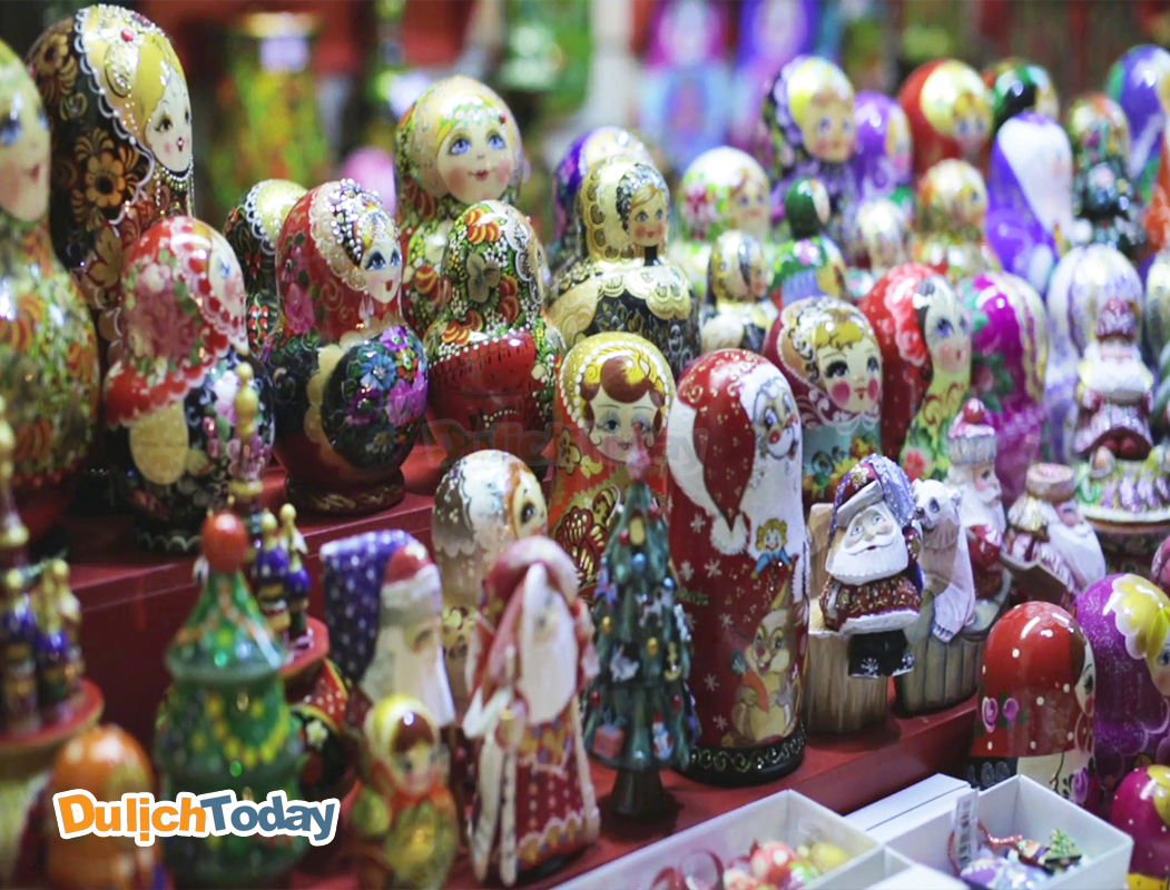Búp bê Matrioska - quà lưu niệm ấn tượng khi du lịch Moscow