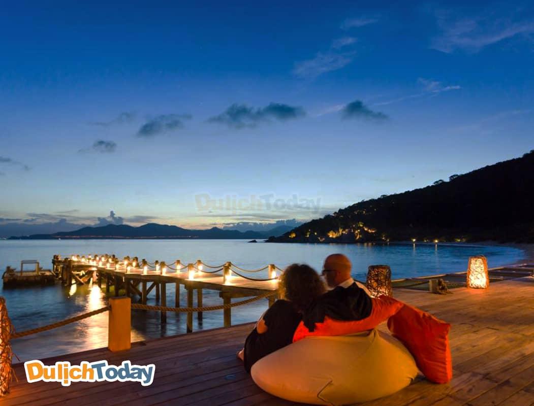 Tận hưởng những giây phút thư giãn tại Khu nghỉ dưỡng sáu giác quan trên vịnh Ninh Vân
