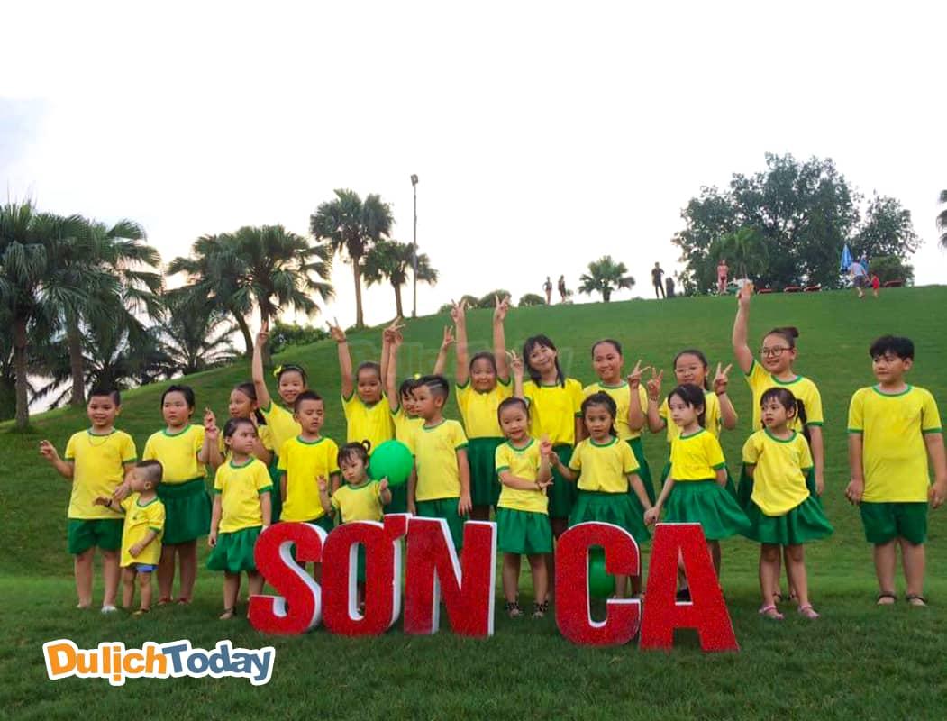 Khóa kỹ năng sống tại Thảo Viên Resort được các em nhỏ rất yêu thích