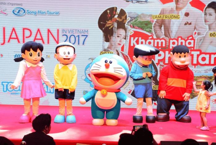 Gặp gỡ và giao lưu với nhân vật hoạt hình nổi tiếng Nhật Bản Doremon và những người bạn