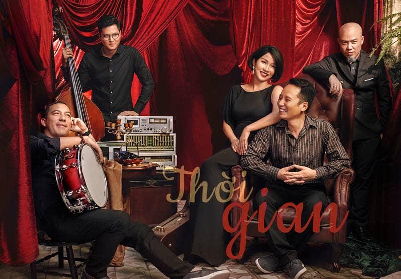 Mỹ Linh cùng bạn nhạc Anh Em và nhạc sĩ Huy Tuấn