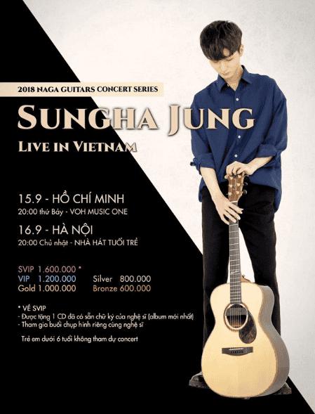 Đêm nhạc Sungha Jung live in Viet Nam tại Hà Nội