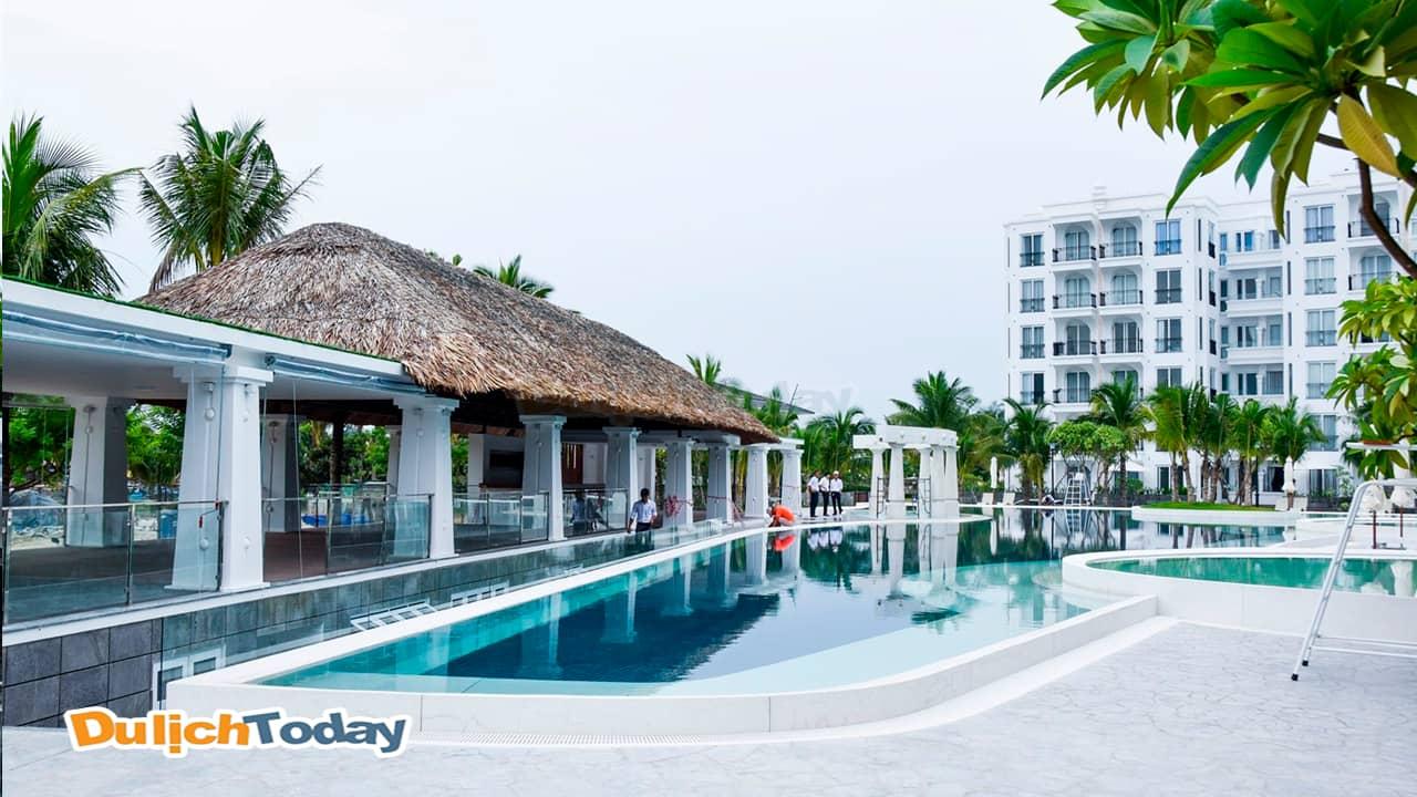 Bể bơi tuyệt đẹp tại Cham Oasis resort Nha Trang 4 sao