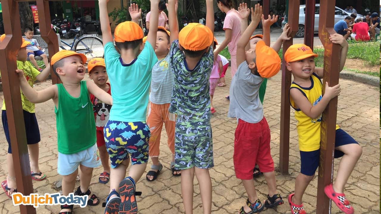 Công viên 1/6 thường là nơi tổ chức nhiều hoạt động team building cho các bé