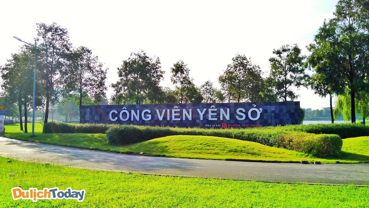 Công Viên Yên Sở hiện đang là địa điểm tổ chức team building ở Hà Nội thích hợp nhất