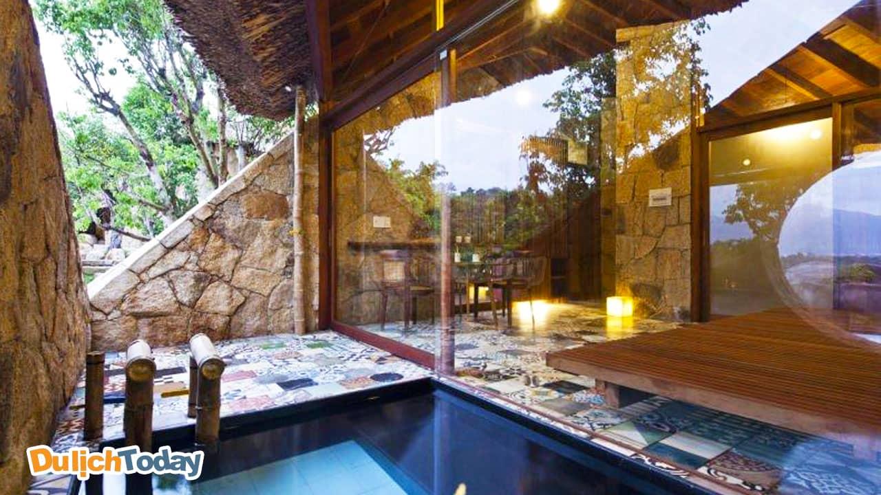 Phòng khách sang trọng của dịch vụ Nice spa I - Resort Nha Trang