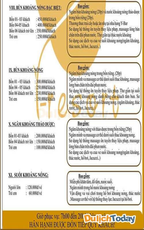 Bảng giá I - Resort Nha Trang