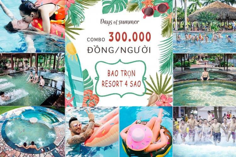 Asean resort là resort tại Hà Nội có rất nhiều voucher khuyến mãi