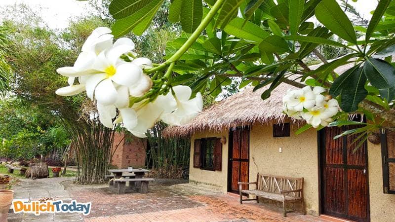 Villa tại Memento resort mang đặc trưng kiến trúc Việt Nam xưa