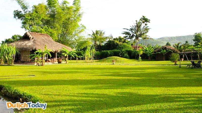 Memeto resort 3 sao Nha Trang với không gian xanh mát