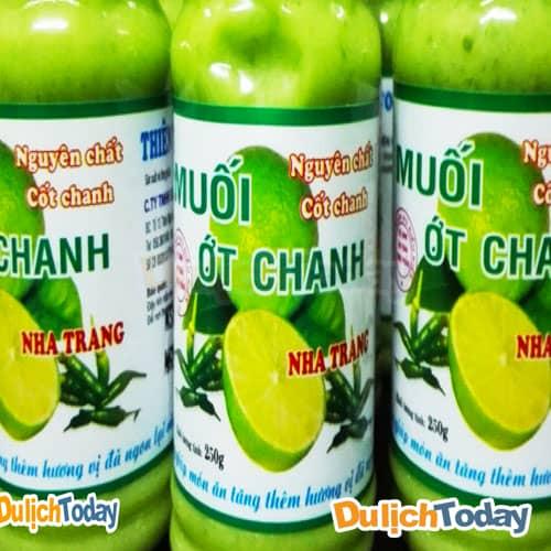 Muối chanh ớt Nha Trang kích thích vị giác người dùng