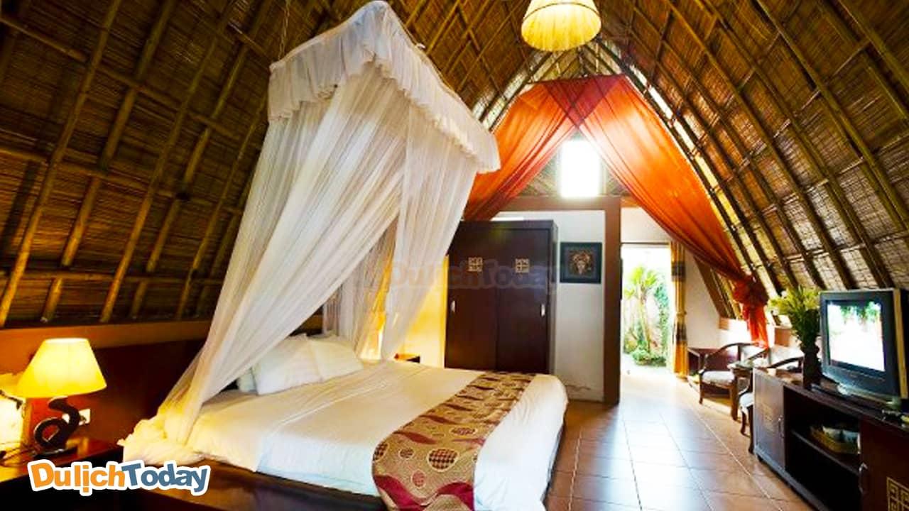 Vẻ hiện đại giữa núi rừng ở trong xóm Lạc Việt của Tản Đà Resort