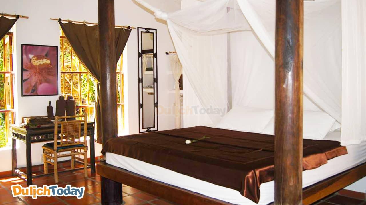 Phòng ngủ siêu đẹp tại Somedays of Silence resort