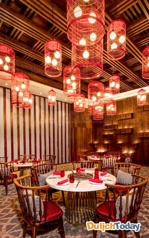 Nhà hàng Sino kitchen tại Duyên Hà resort ấn tượng với phong cách Trung Quốc