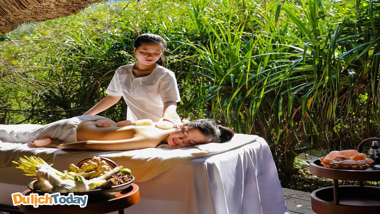 Tận hưởng những phút giây thư thái tại spa của L'Alyana Ninh Vân Bay resort