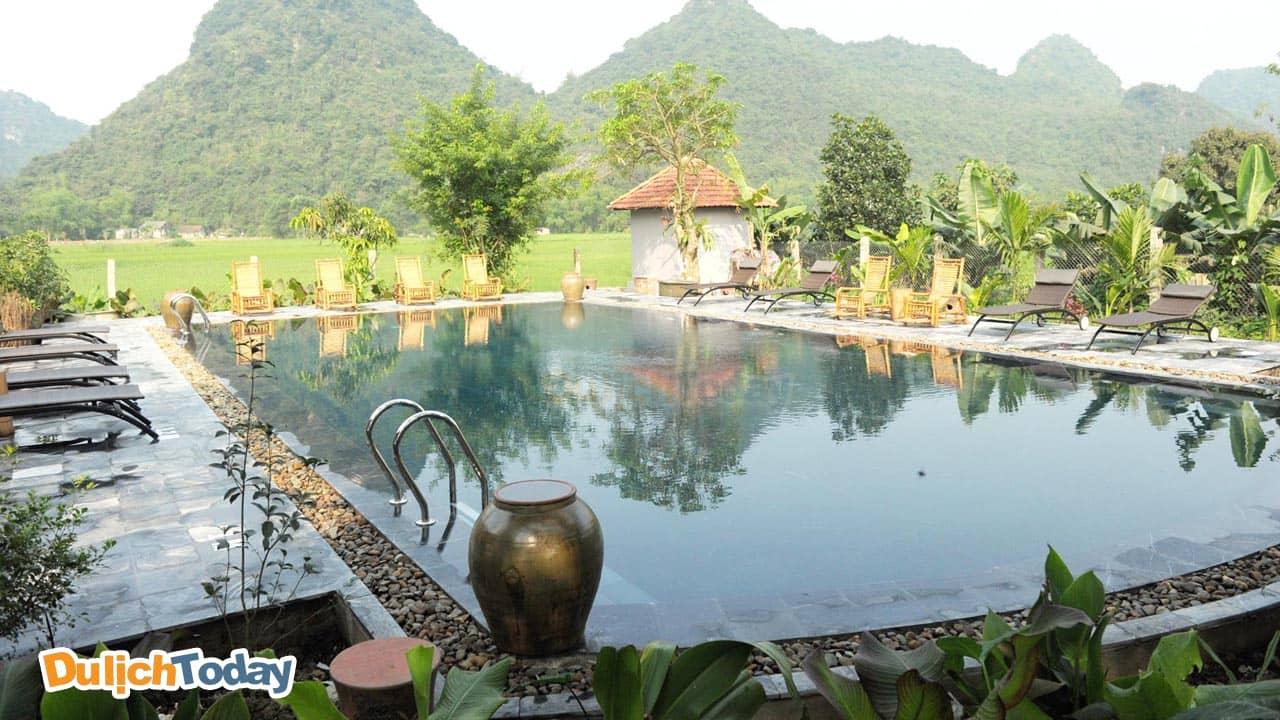 Tam Cốc Garden là địa điểm nghỉ dưỡng nổi tiếng tại thành phố Ninh Bình