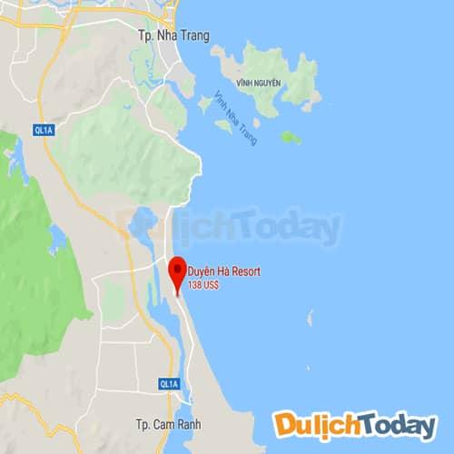 Vị trí của Duyên Hà resort trên bản đồ