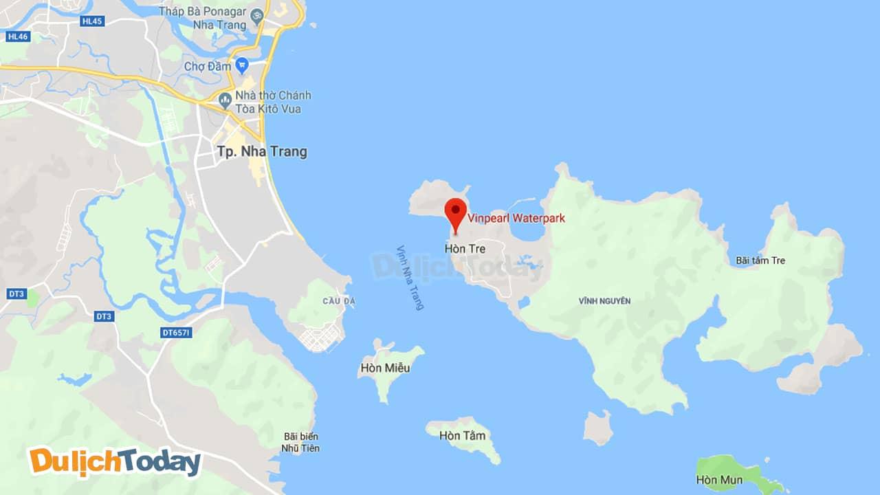Vinpearl Land nằm trọn vẹn trên đảo Hòn Tre