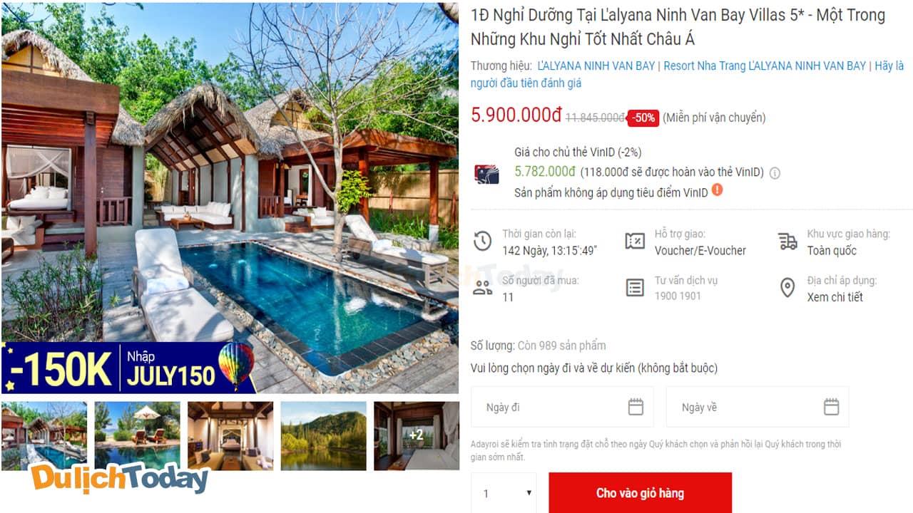 1000 Voucher của L'Alyana Ninh Vân Bay <em>giảm giá đến 50%</em>
