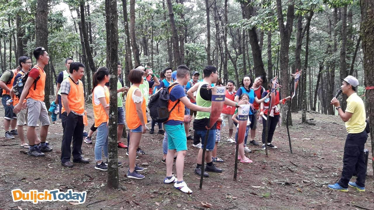 Vườn Quốc gia Ba Vì có không gian rộng và thoáng mát, phù hợp với các hoạt động teambuilding ngoài trời