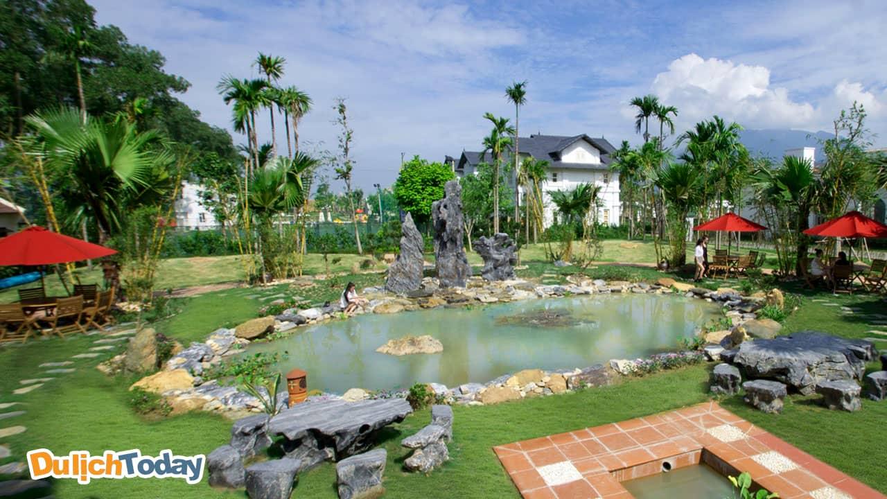 Quần thể khu vui chơi giải trí, thể thao tại Vườn Vua được đầu tư chăm chút kỹ lưỡng, đa dạng và hấp dẫn